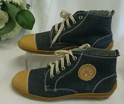 Mädchen Kinder Schuhe Sneakers MADE IN ITALY Gr. 28 Jeans Optik Braun