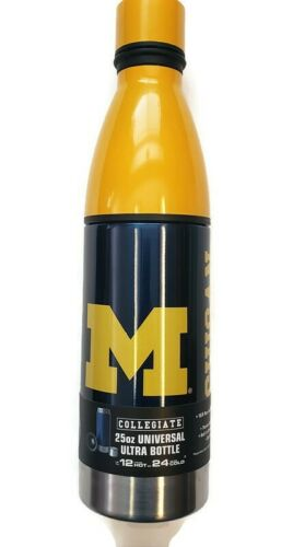 NCAA Michigan Wolverines Universal Ultra Water Drink Bottle Stainless Steel 25oz