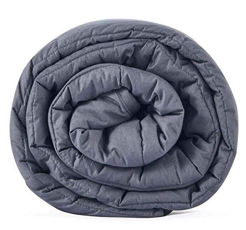 """CuteKing Weighted Blanket Dark Grey 48"""" X 78"""" 15lbs"""