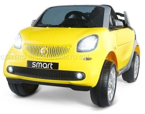 Auto Bambini Elettrica Smart  12v  Radiocomando Mp3 Usb amarillo