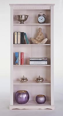 Bücherregal, Standregal Kiefermassiv H.180cm weiß