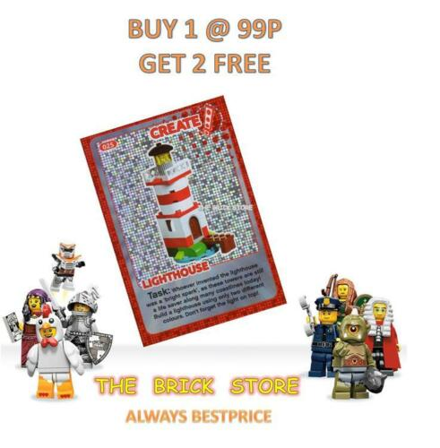#025 LIGHTHOUSE LEGO NEW BESTPRICE CREATE THE WORLD TRADING CARD GIFT