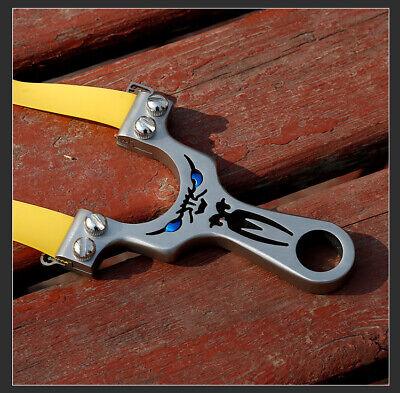 Hunting Stainless Steel Slingshot Titanium Steel Traditional Outdoor Slingshot