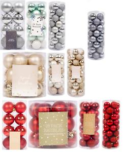 Glitter Christmas Baubles Xmas Tree Ornament Hanging Ball Decor 3cm,4cm,5cm,6cm