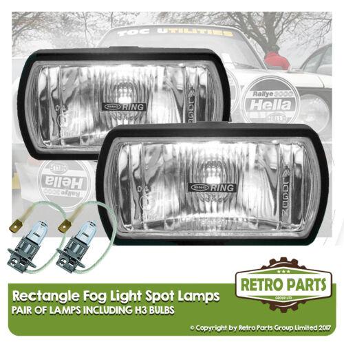 Rectangle Fog Spot Lamps for Ford Probe Lights Main Full Beam Extra