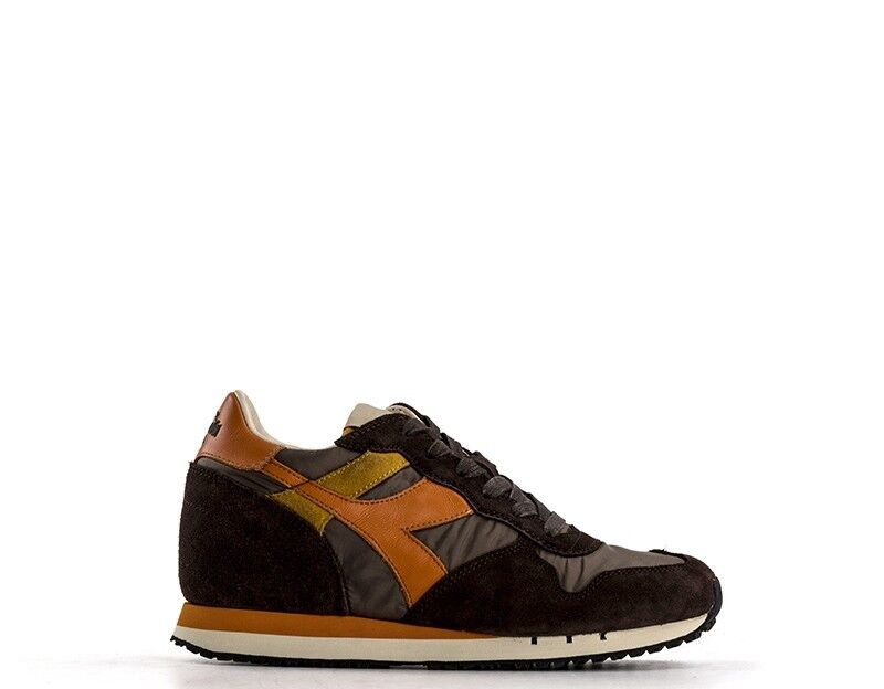 shoes DIADORA HERITAGE women SNEAKERS TRENDY  brown Pelle naturale,Tessuto 16