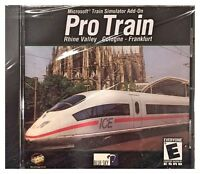 Microsoft Train Simulator Pro Train 1 (pc) Brand Sealed - Free U.s. Ship