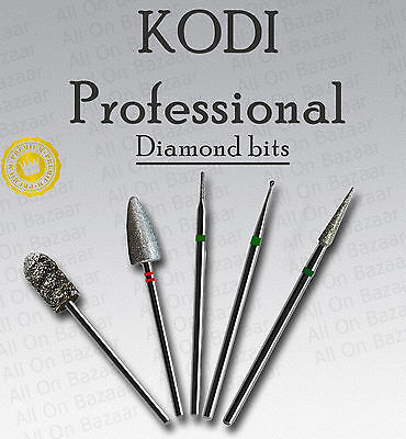 Kodi Electric Nail Drill  Diamond BITS Fresas Burs Pedicure