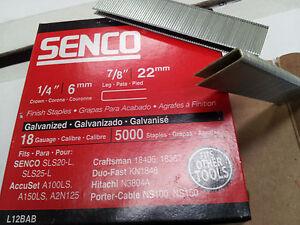Senco L08BAB, L12BAB & L13BAB 18 Gauge Staples. Fit 90 series Staplers