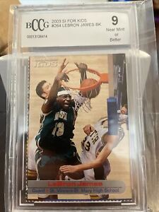 2003 SI for Kids Lebron James #264 graded BCCG 9.5