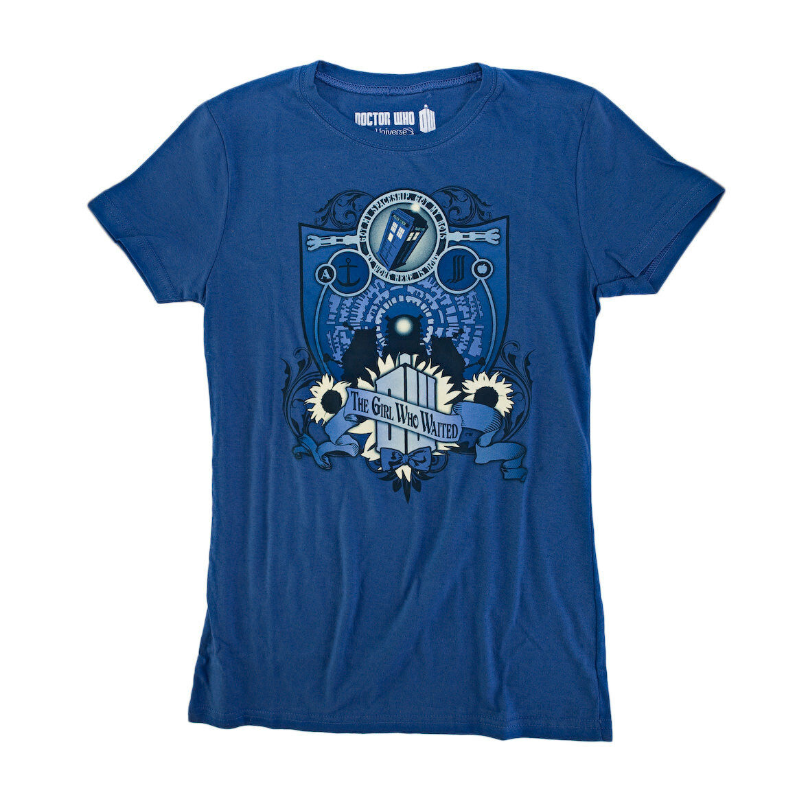 Doctor Who Coat Of Arms Juniors Juniors Juniors bluee T-Shirt e5264f