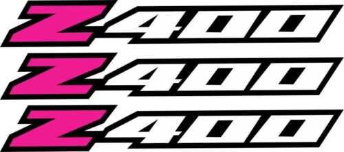 LTZ400 Pink Fender Graphics Plastic Decal Sticker Ltz 400 Z400 Suzuki Wheel Rim