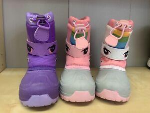 Toddlers Girls Kids Unicorn Snow Boots