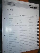 VIKING tracteur tondeuse MT580 MT 580 : catalogue de pièces 2002