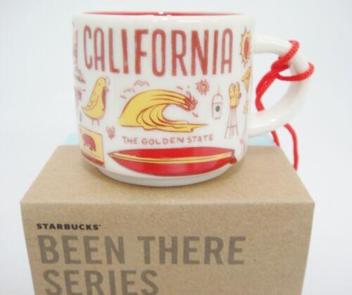 Starbucks MINI California Been There Mug Ornament 2018 Red Interior 2 oz NIB