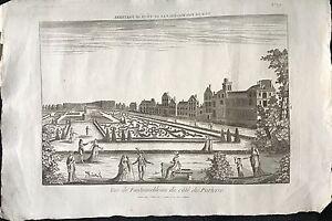 """""""vue De Fontainebleau Du CotÉ Du Parterre"""" Xix Ème Top PastèQues"""