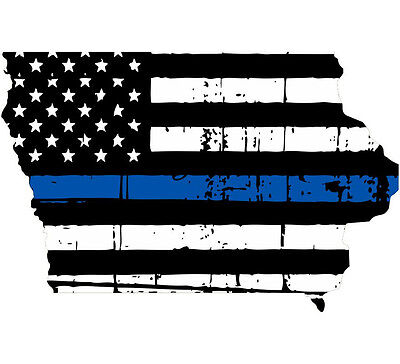 Various Sizes State of Michigan Tattered Flag Decal Thin Blue line decal