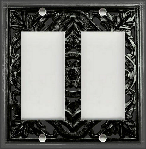 Metal Light Switch Plate Cover Decorative Design Black Home Decor Switch Plate