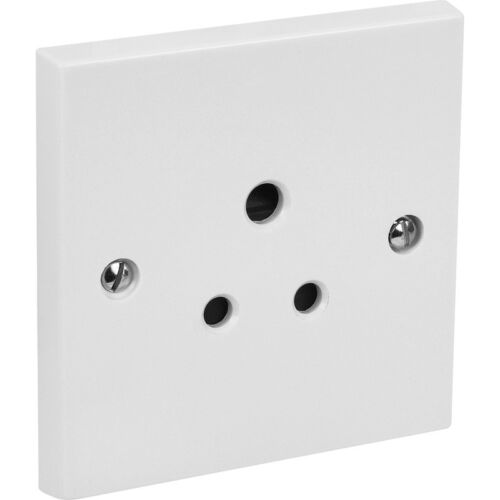 NEW 4 X Electrical Round 3 Pin Socket 1 Gang 5A Each FreePost.UK Seller