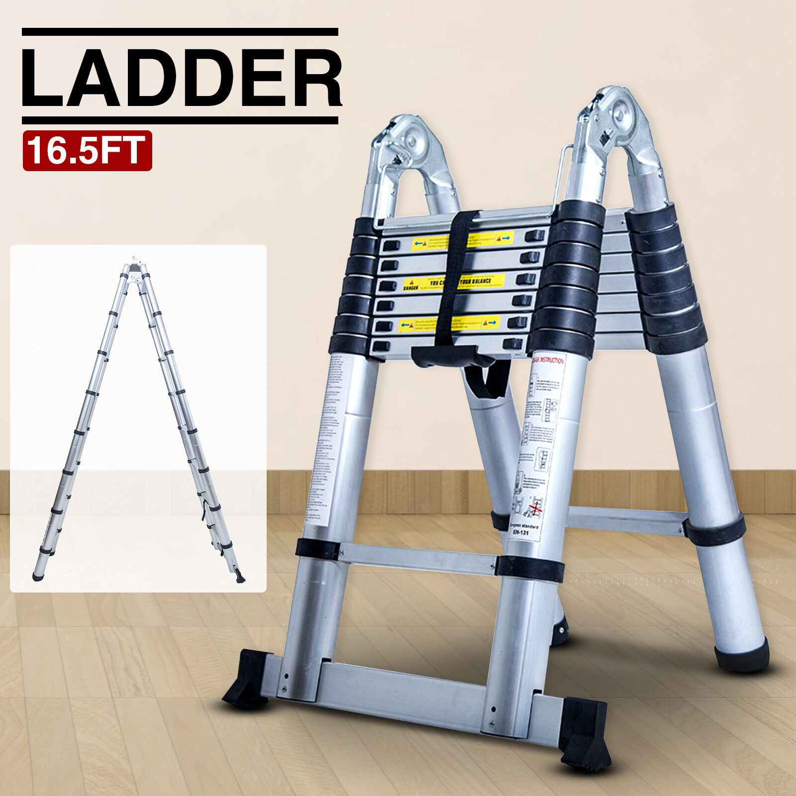 6ft Multi Purpose Step Ladders : Folding ft aluminum multi purpose ladder telescoping