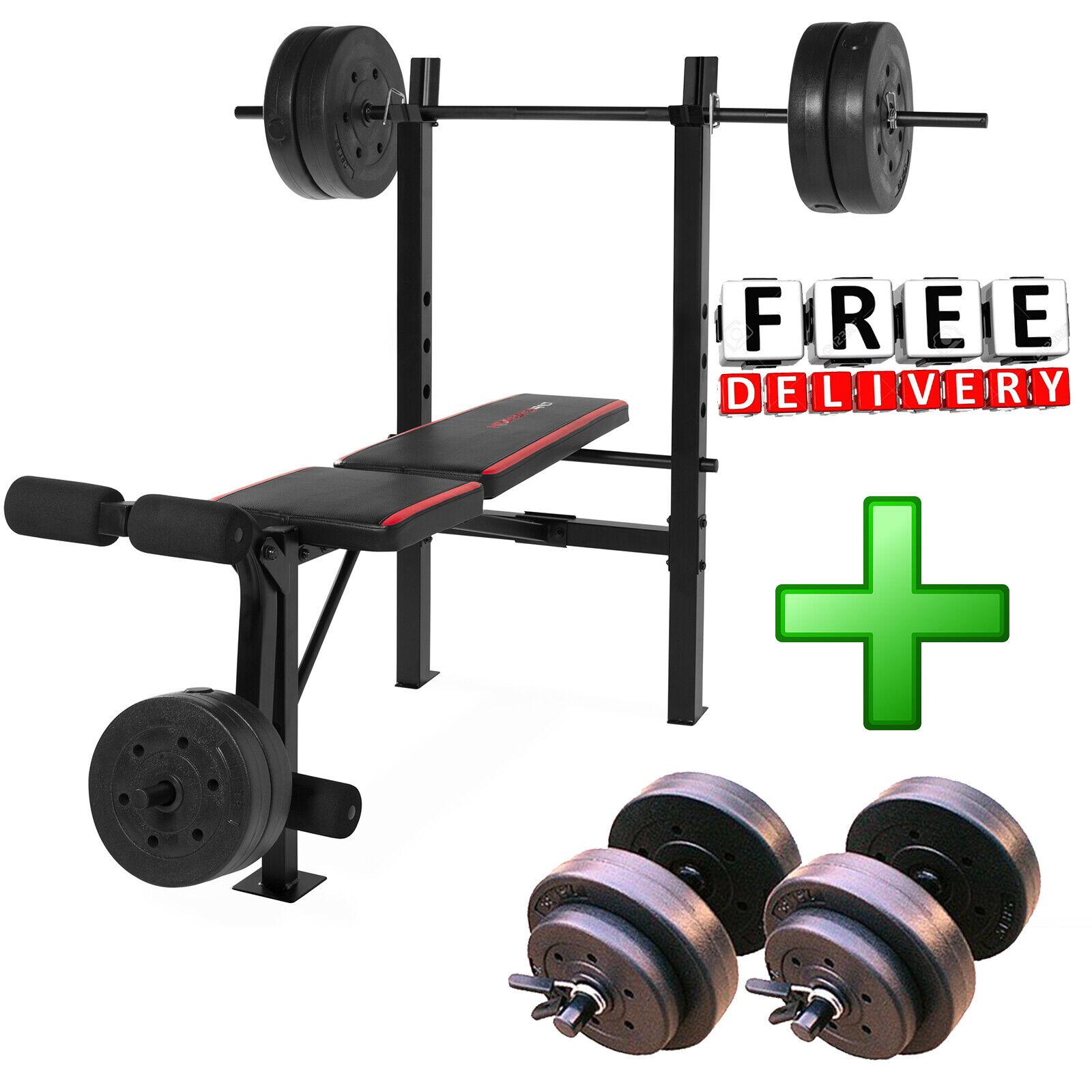 Fitness-Benchmark mit Gewicht Set 140lb Gym Barbell EquipSiet Home Training