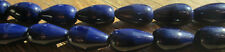 50 Very Vintage Czech Glass Opaque Navy Blue Shiny Drop Beads 14mm x 8mm