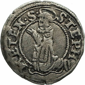1551-FRANCE-Metz-Bishop-ROBERT-of-LENONCOURT-Antique-Silver-FRENCH-Coin-i74596