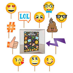 Image Is Loading EMOJI LOL WALL POSTER DECORATING KIT And PROPS