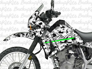Image Is Loading Kawasaki KLR 650 Decals PIXEL SNOWCAMO Sticker Graphic