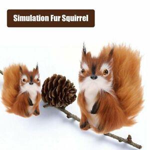 Simulation-Fur-Squirrel-Plush-Stuffed-Doll-Animal-ToyHome-Decor-k