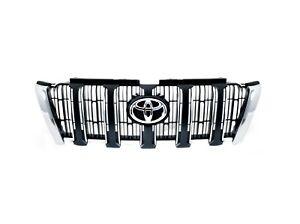 Genuine-Grille-in-chrome-and-black-For-Toyota-Prado-J150-2013-2017