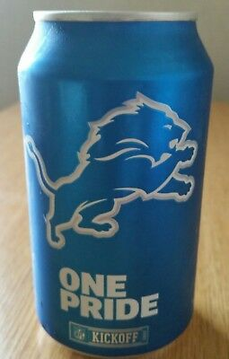 DETROIT LIONS  2017 BUD LIGHT NFL EMPTY BEER CAN KICKOFF. ONE PRIDE.