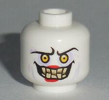 HEAD MF024 Lego Male Sunken Eyes, Red Lipstick , Evil Confused NEW Jestro White