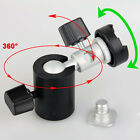 Ball Head Umbrella/ Flash Shoes Mount/Holder/Bracket C Stand Tripod 360° Swivel
