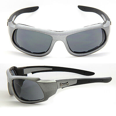 Black Choppers Foam Padded Designer Sunglasses Free Pouch Clear Lens C49