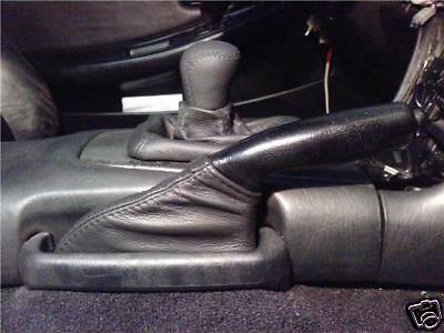 FITS NISSAN SKYLINE R32 GEAR HANDBRAKE GAITER GAITOR BLACK REAL LEATHER NEW