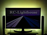 Tv Back Light- Television Led Light Strips In Amber 60 Inches Of Leds