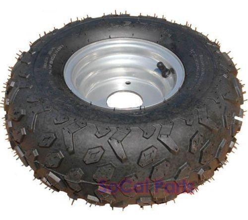 ATV 145 70-6 Wheel   Tire (Diamond tread) 3-bolt mount RIGHT SIDE