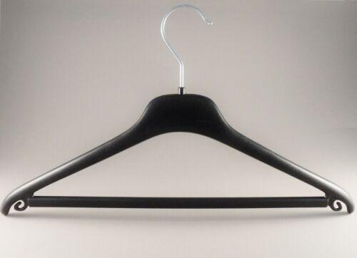 Kleiderbuegel aus Plastik HL240 Kostümbügel mit Steg schwarz 40cm NEU 15 Stück