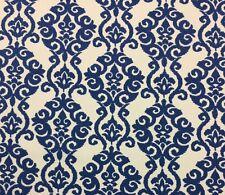 "WAVERLY LUMINARY INDIGO BLUE FLORAL DAMASK MULTIPURPOSE FABRIC BY THE YARD 54""W"