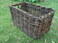Regalkorb, Allzweckkorb aus Rattan/Peddigrohr, in drei Größen, dunkel braun