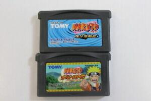 Lot-of-2-Naruto-RPG-amp-Konoha-Senki-Nintendo-Game-Boy-Advance-GBA-Japan-Import