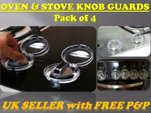 Four Cuisinière Bouton Gardes cuisinière * babyguard plaque de cuisson de sécurité Protecteur Shield Cover 4Pcs