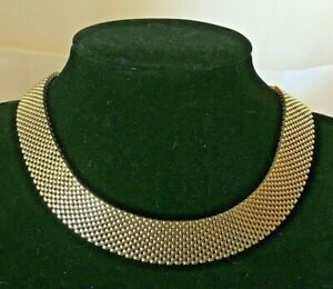 7-Row-Gold-tone-Panther-Link-Choker-necklace-small-12-034-14-034