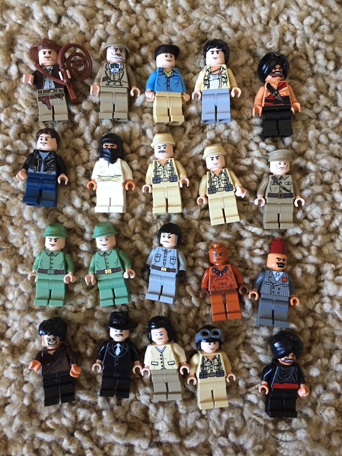 Lego Indiana Jones Marion Mutt Dovencho 20 Different Minifigure Lot 7623 7199