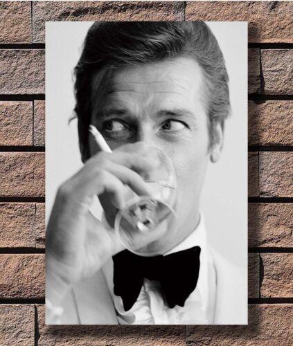 Classic Movie 007 James Bond Roger Moore Shaken T-3145 Art Poster 24x36 27x40