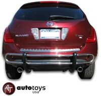 Stainless Rear Bumper Guard - Double Tube [fit: 2003-2008 Nissan Murano ]