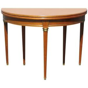 Details about Outstanding Maison Jansen Style Fold Away Console Apartment  Size Dining Table