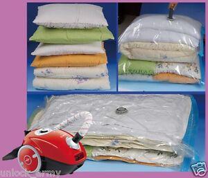 5x Jumbo Seal pressed Vacuum Bag Storage Organizer