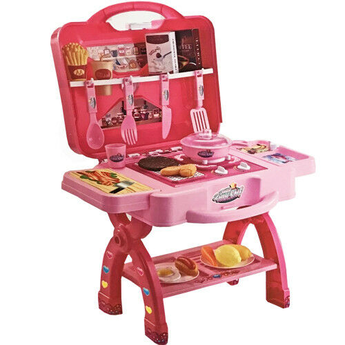GIRLS-KITCHEN-COOKING-TOY-COOKER-PLAY-SET-PORTABLE-ELECTRONIC-CHILDRENS-KIDS-NEW